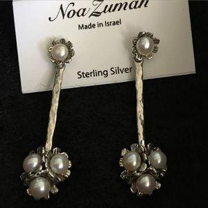 NOA ZUMAN 925 Sterling Silver Pearl Drop Earrings